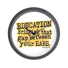 Beige, Education Bridging The Gap Wall Clock