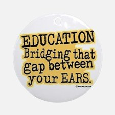 Beige, Education Bridging The Gap Ornament (Round)
