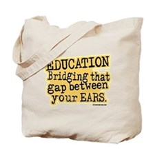 Beige, Education Bridging The Gap Tote Bag