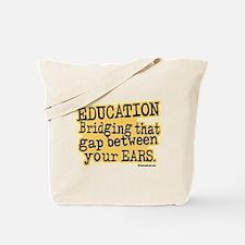 Beige, Education Bridging The Gap Tote Bag