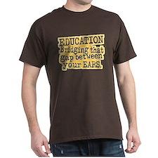 Beige, Education Bridging The Gap T-Shirt