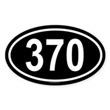 370 Oval Decal