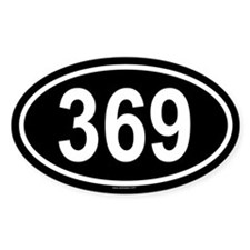 369 Oval Decal