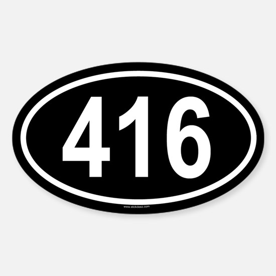 416 Oval Decal