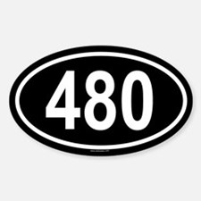 480 Oval Decal