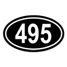 495 Oval Decal