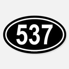 537 Oval Decal