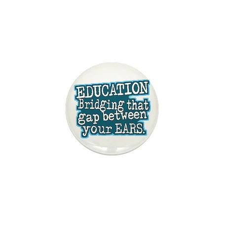 Aqua, Education Bridging The Gap Mini Button (10 p