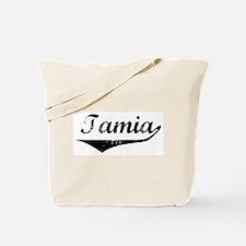Tamia Vintage (Black) Tote Bag