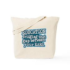 Aqua, Education Bridging The Gap Tote Bag