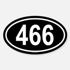 466 Oval Decal