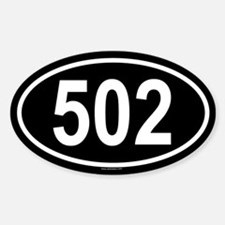 502 Oval Decal