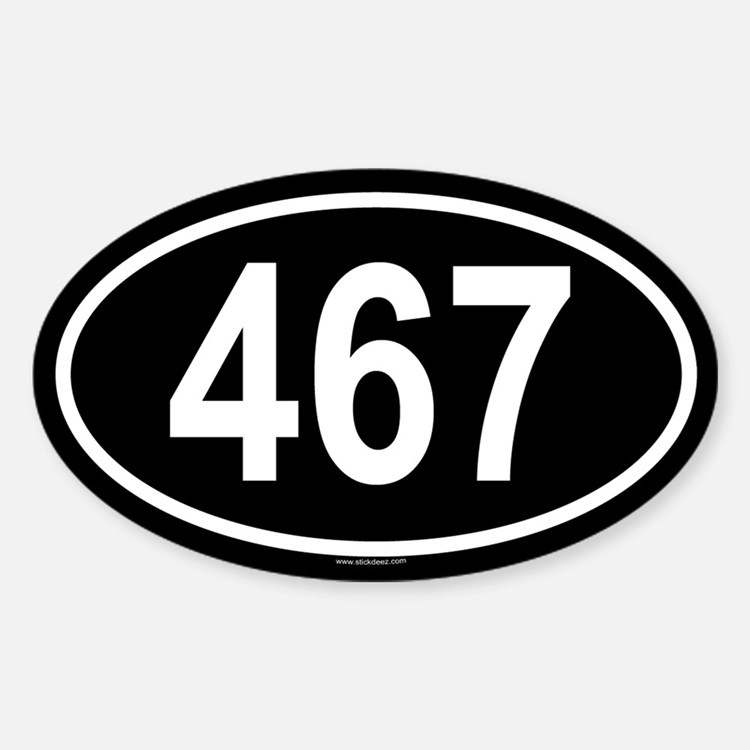 467 Oval Decal
