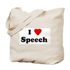 I Love Speech  Tote Bag