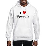 I Love Speech Hooded Sweatshirt