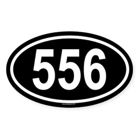 556 Oval Sticker
