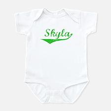Skyla Vintage (Green) Infant Bodysuit
