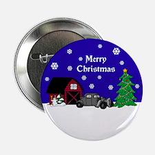 "Rat Rod Christmas 2.25"" Button"