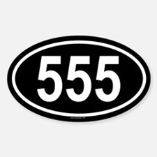 555 Oval Decal