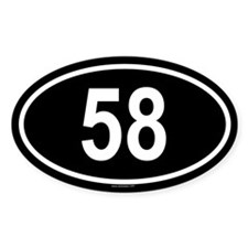 58 Oval Decal