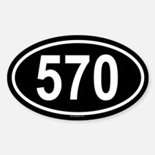 570 Oval Decal