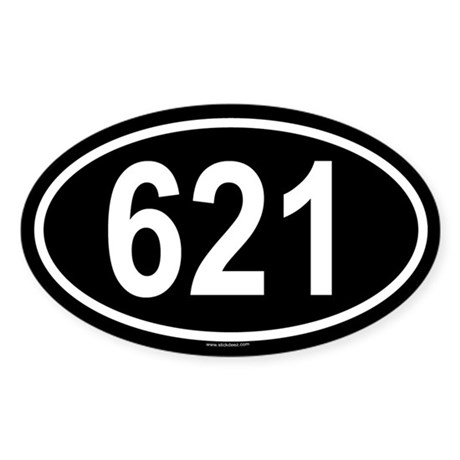 621 Oval Sticker