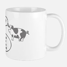 Schweine (gray/white) Mug