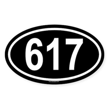 617 Oval Sticker