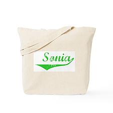Sonia Vintage (Green) Tote Bag