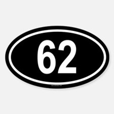 62 Oval Decal