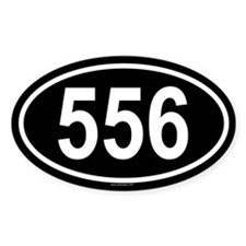 556 Oval Decal