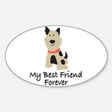 Puppy Dog Oval Decal