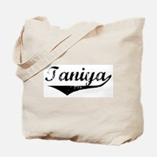 Taniya Vintage (Black) Tote Bag