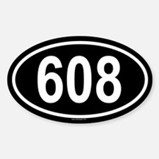 608 Oval Decal