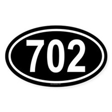 702 Oval Decal