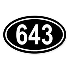 643 Oval Decal