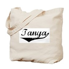 Tanya Vintage (Black) Tote Bag