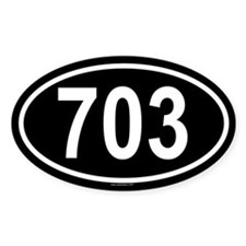 703 Oval Decal