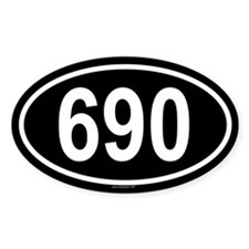 690 Oval Decal