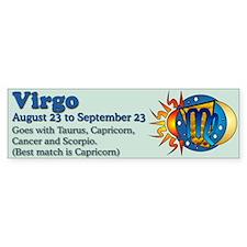 Virgo Zodiac Bumper Bumper Sticker