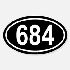 684 Oval Decal