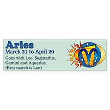 Aries Zodiac Bumper Bumper Sticker