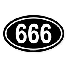 666 Oval Decal