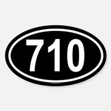 710 Oval Decal