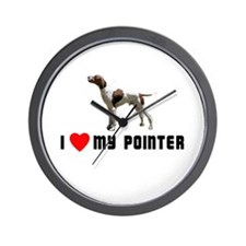 I Love My Pointer Wall Clock