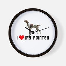 I Love My Pointer Wall Clock