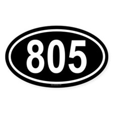 805 Oval Decal