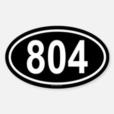 804 Oval Decal