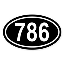 786 Oval Decal