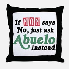 Just Ask Abuelo! Throw Pillow